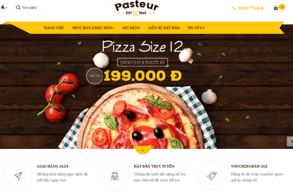 Thiết kế website có danh mục rõ rành, đẹp mắt sẽ dễ gây thiện cảm với khách hàng.